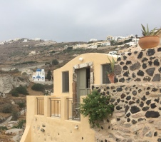 My Santorini Airbnb- facing the sea, half way up a cliff