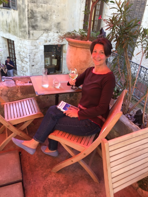 A little wine while visiting the French Riviera in October 2018.